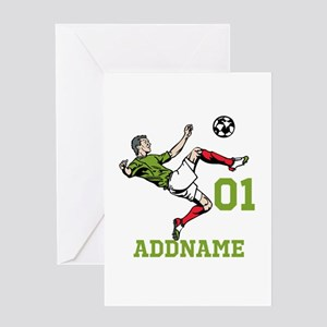 Customizable Soccer Greeting Card