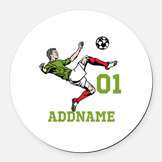 Customizable Soccer Round Car Magnet