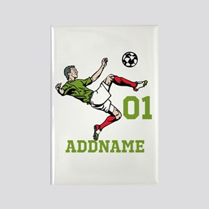 Customizable Soccer Rectangle Magnet
