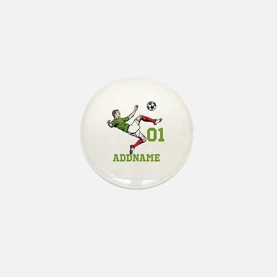 Customizable Soccer Mini Button