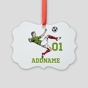 Customizable Soccer Picture Ornament