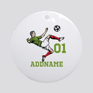 Customizable Soccer Ornament (Round)
