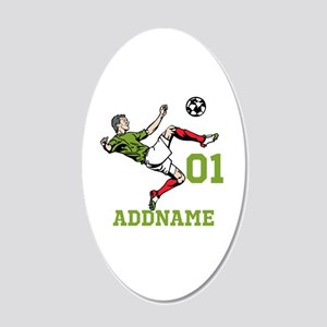 Customizable Soccer 20x12 Oval Wall Decal