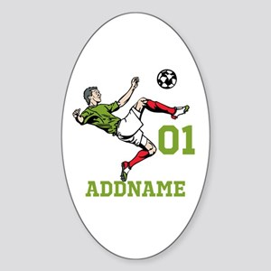 Customizable Soccer Sticker (Oval)