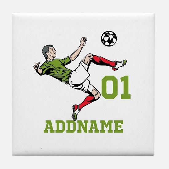Customizable Soccer Tile Coaster