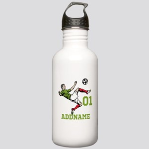 Customizable Soccer Stainless Water Bottle 1.0L