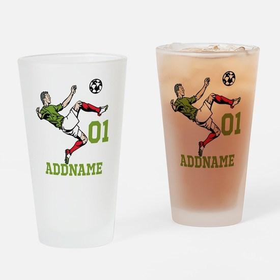 Customizable Soccer Drinking Glass