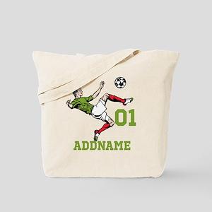Customizable Soccer Tote Bag