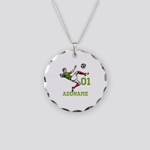 Customizable Soccer Necklace Circle Charm