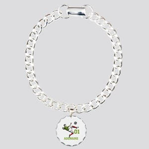 Customizable Soccer Charm Bracelet, One Charm
