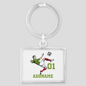 Customizable Soccer Landscape Keychain