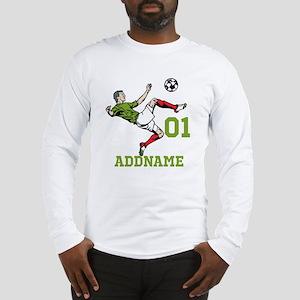 Customizable Soccer Long Sleeve T-Shirt