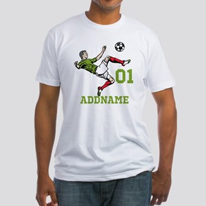 Customizable Soccer Fitted T-Shirt