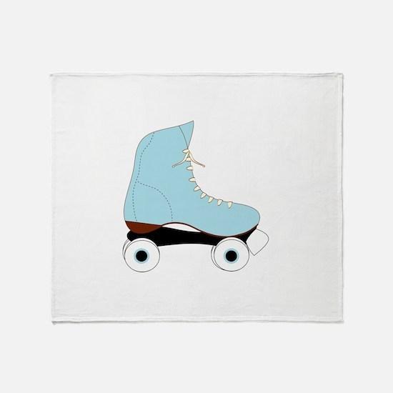 Blue Rollerskate Throw Blanket
