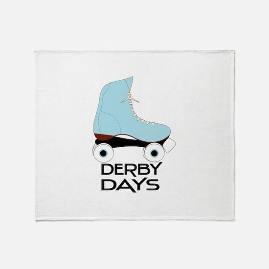 Derby Days Throw Blanket