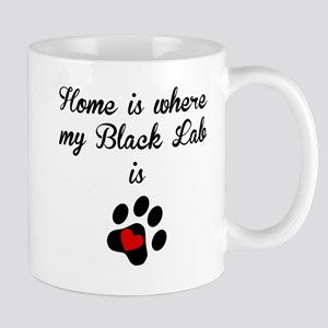 Home Is Where My Black Lab Is Mugs