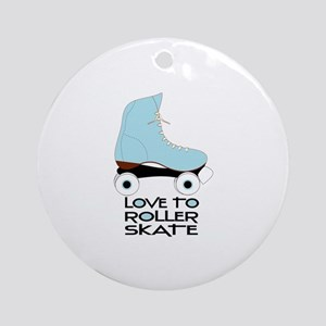 Love To Roller Skate Ornament (Round)