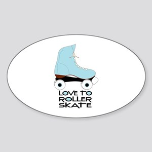 Love To Roller Skate Sticker