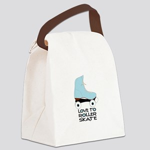 Love To Roller Skate Canvas Lunch Bag