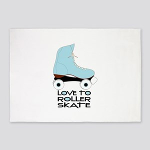 Love To Roller Skate 5'x7'Area Rug