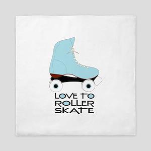Love To Roller Skate Queen Duvet