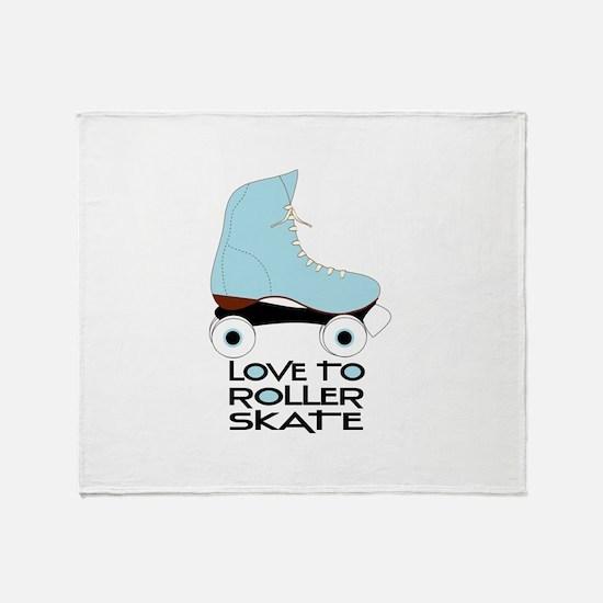 Love To Roller Skate Throw Blanket