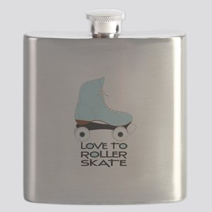 Love To Roller Skate Flask