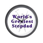 World's Greatest Stepdad Wall Clock