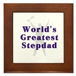 World's Greatest Stepdad Framed Tile