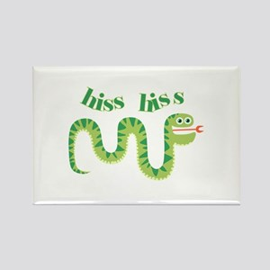 Hiss Hiss Snake Rectangle Magnet