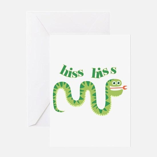 Hiss Hiss Snake Greeting Card