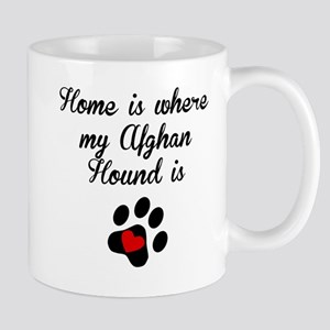Home Is Where My Afghan Hound Is Mugs
