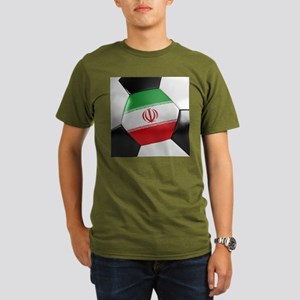 Iran Soccer Ball Organic Men's T-Shirt (dark)