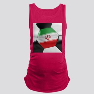 Iran Soccer Ball Maternity Tank Top