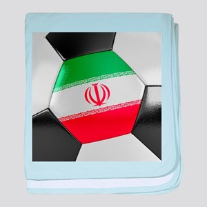 Iran Soccer Ball baby blanket