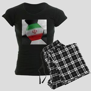 Iran Soccer Ball Women's Dark Pajamas