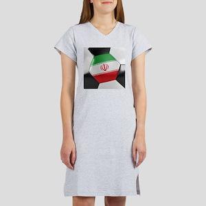 Iran Soccer Ball Women's Nightshirt