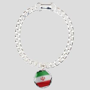 Iran Soccer Ball Charm Bracelet, One Charm