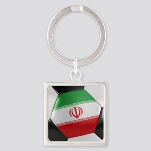 Iran Soccer Ball Square Keychain