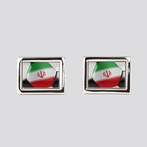 Iran Soccer Ball Rectangular Cufflinks