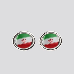 Iran Soccer Ball Oval Cufflinks