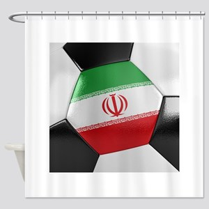 Iran Soccer Ball Shower Curtain
