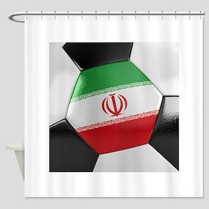 Iran Soccer Ball Shower Curtain