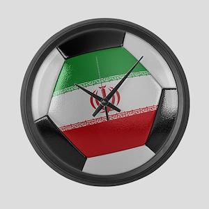 Iran Soccer Ball Large Wall Clock