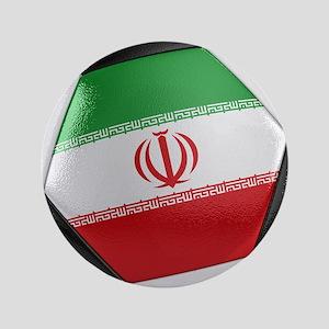 "Iran Soccer Ball 3.5"" Button"