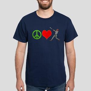 PEACE, LOVE, BASEBALL T-Shirt