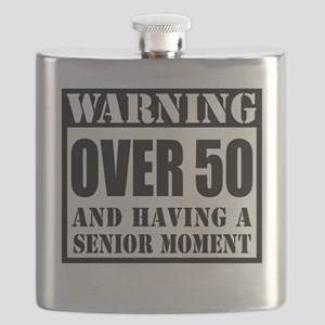 Over 50 Senior Moment Drinkware Flask