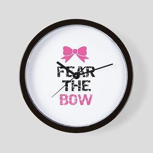Fear the bow Wall Clock