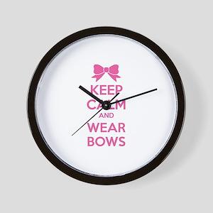 Keep calm and wear bows Wall Clock