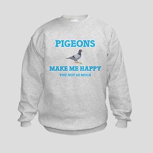 Pigeons Make Me Happy Sweatshirt